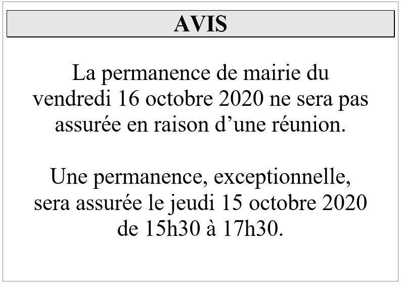 Avis fermeture 161021